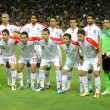 Tunisia national football team posing — Stock Photo