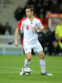 Tunisian player Khaled Korbi — Stock Photo