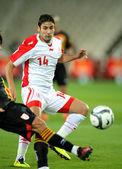 Tunisian player Mejdi Traoui — Stock Photo