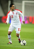 Tunisian player Wissem Ben Yahia — Stock Photo