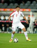 Tunisian player Youssef Msakni — Stock Photo