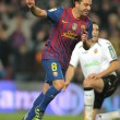 Xavi Hernandez of FC Barcelona celebrating goal — Stock Photo