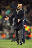 Josep Guardiola of FC Barcelona disappointed — Stockfoto