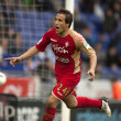 Oscar Trejo of Sporting Gijon celebrates goal — ストック写真