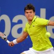 Stock Photo: Canaditennis player Milos Raonic