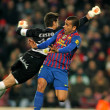 Постер, плакат: Dani Alves of FC Barcelona shoots free kick