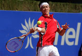 Japanese tennis player Kei Nishikori — Стоковое фото