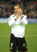 Roberto Soldado of Valencia CF — Stock Photo