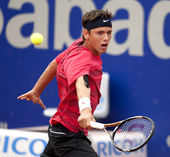 Serbian tennis player Filip Krajinovic — Stock Photo