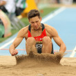 Tim Nowak of Germany during Long Jump Decathlon event — Stock Photo