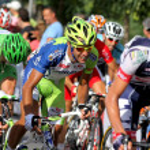 Постер, плакат: Liquigas Cannondale Italian cyclist Cristiano Salerno