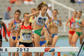Tessa Potezny of Australia during 3000m steeplechase event — Stock Photo