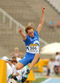 Juuso Hassi of Finland during Long Jump Decathlon event — Stock Photo