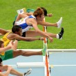 Stock Photo: Competitors of 110 meters hurdles