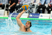 Serbian waterpolo player Marko Cuk of CN Sabadell — Stock Photo