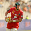 USAP Perpignan Luke Narraway drive the ball — Stok fotoğraf