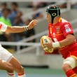 USAP Perpignan Luke Narraway(R) drive the ball - Stock Photo