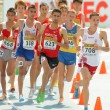 Competitors of 3000m steeplechase event — Stock Photo