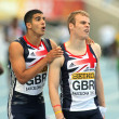 Adam Gemili &  Thomas Holligan of Great Britain — 图库照片