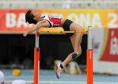 Midori kamijima del giappone saltando su hight salto evento — Foto Stock
