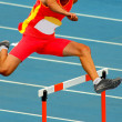 Stock Photo: Jumping hurdles