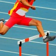Jumping hurdles — Stock Photo