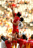 Luke Charteris of USAP Perpignan — Stock Photo