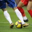Stock Photo: Soccer dribbling