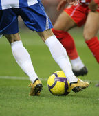 Soccer dribbling — Stock Photo