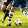 Stockfoto: Two soccer players vie