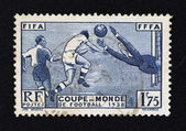 1936 World Football Cup Stamp — Stock Photo