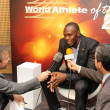 Usain Bolt interviewed - Stock Photo