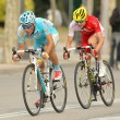 Dyachenko of Astana and Molard of Cofidis — Stock Photo