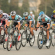 Pack of the cyclists of Omega Pharma Quickstep — Stock Photo