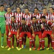 Atletico de Madrid team posing — Stock Photo
