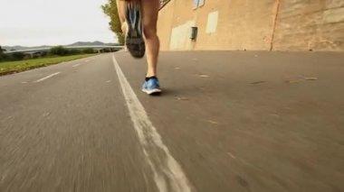 Runner feet — Stock Video