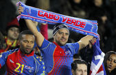 Cape Verdean supporters celebrating goal — Stock Photo