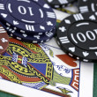 Poker Cards and chips — Stock Photo #14750745