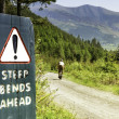 Steep bends ahead — Stock Photo