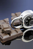 Lock up your Chocolate — Stock Photo