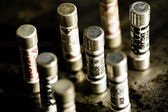 Picture of fuses standing upright — Stock Photo