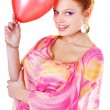 Stock Photo: Smilling girl with baloon