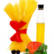 Raw pasta ingredients - Stock Photo