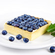 Mini cake with blueberries and mint — Stock Photo