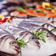 Royalty-Free Stock Photo: Group of fish served on ice
