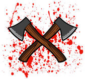 Blood with axe — Stock Vector