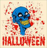 Halloween zombie face — Stock Vector