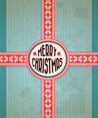 Vintage Christmas Card Grunge Effects Can Be Easily Removed — Stock Vector