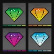 Stock Vector: Diamond set in four colors