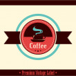 Retro Vintage Coffee Background with Typography — Vettoriali Stock